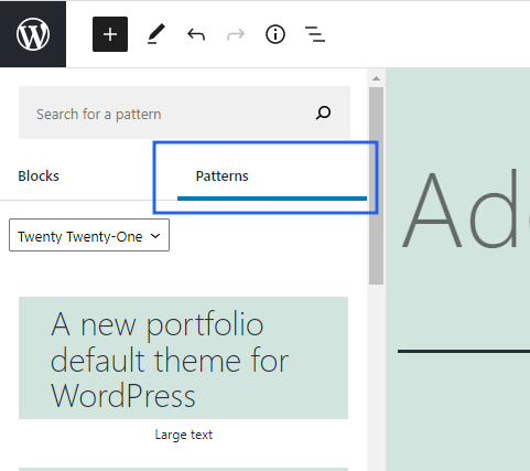 new-block-patterns-by-wordpress-5-6